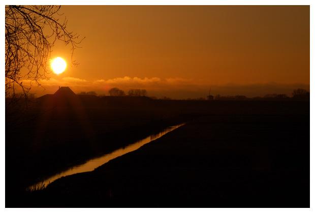 foto's, ondergaande zon, zonsondergang