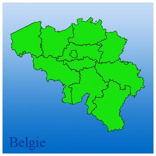 kaart van belgie met provincies