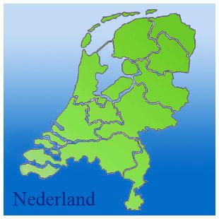 kaart van nederland met provincies