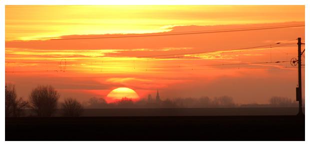 zonsondergang, zon gaat onder