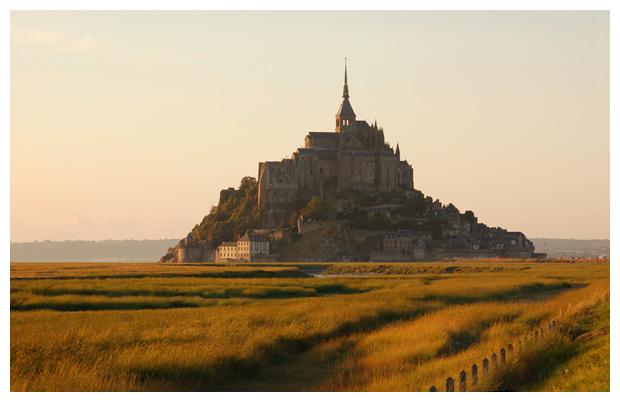 Normandiele, mont-saint-michel normandië in frankrijk, (regio laag-normandië)
