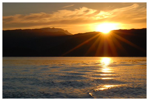 foto's, zonsondergang, ondergaande zon