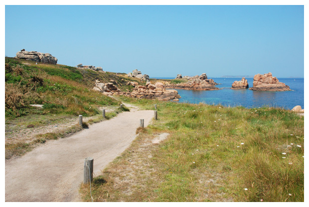 foto's, Roze granietkust, Perros-Guirec, Bretagne, Frankrijk