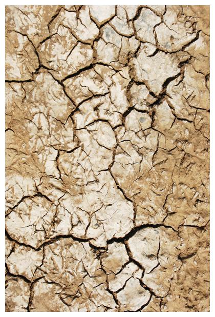 foto's, Uitgedroogde droge grond, droogte, gescheurde oppervlakte, gebarsten aarde